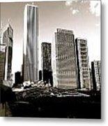 Millenium Park Skyscrapers Metal Print