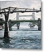 Millennium Bridge London Metal Print