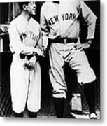 Miller Huggins, And Babe Ruth, Circa Metal Print