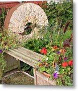 Milling Stone Flower Garden Metal Print