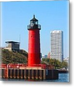 Milwaukee Harbor Lighthouse Metal Print