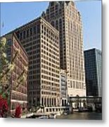 Milwaukee River And Skywalk Metal Print