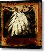 Mimosa Leaf Collage Metal Print