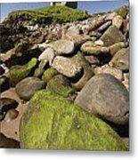 Minard Castle And Rocky Beach Minard Metal Print