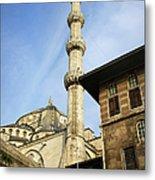 Minaret Of The Blue Mosque Metal Print