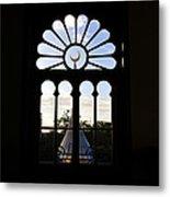 Minaret Through Window Metal Print