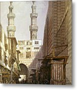 Minarets And Grand Entrance Of The Metwaleys At Cairo Metal Print