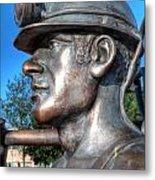 Miner Statue Metal Print