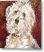 Mini Doodle Portrait Metal Print by Karen Ahuja