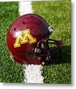 Minnesota Football Helmet Metal Print by Bill Krogmeier