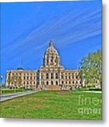 Minnesota State Capital Iv Metal Print