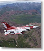 Minute Men Paint Scheme On An F-16 Metal Print