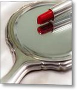 Mirror And Lipstick Metal Print