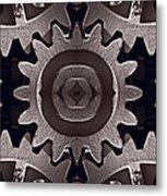 Mirror Gears Metal Print