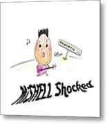 Mishell Shocked Metal Print
