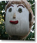 Miss Julia Scarecrow Metal Print