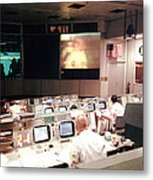 Mission Operations Control Room - Metal Print by Everett