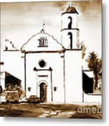 Mission San Luis Rey In Sepia Metal Print by Kip DeVore