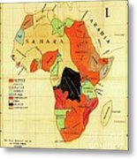Missionary Map Of Africa Metal Print