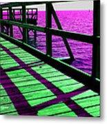 Mississippi  Pier - Ver. 8 Metal Print