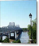 Mississippi River Bridge Metal Print