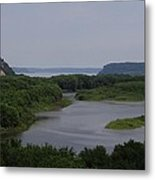 Mississippi River Panorama   Metal Print