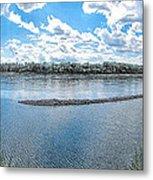 Mississippi River Panorama Metal Print