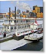 Mississippi Riverboat Metal Print