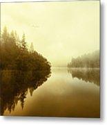 Mist Across The Water Loch Ard Metal Print
