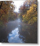 Mist Along The Wissahickon Metal Print