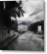 Mist By The Pier Metal Print