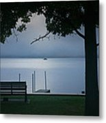 Mist On The Lake Metal Print by Steven Ainsworth