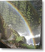 Mist Trail Rainbow Metal Print
