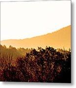 Misty Autumn Sunrise Metal Print