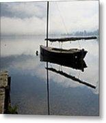 Misty Morning On Lake Bohinj Metal Print