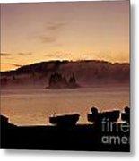 Misty Sunrise At Algonquin Provincial Park  Metal Print