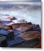 Misty Tide At Monument Cove Metal Print