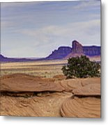 Mitchell Butte From Mystery Valley Metal Print