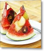 Mixed Fruit Watermelon Metal Print by Anek Suwannaphoom