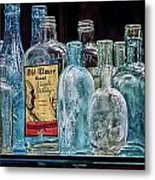Mob Museum Whiskey Bottles Metal Print