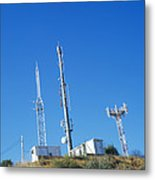 Mobile Phone Masts Metal Print
