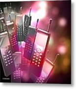Mobile Phones Metal Print by Victor Habbick Visions