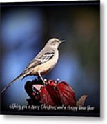 Mockingbird Holidays Metal Print