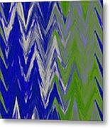 Moda Chevron Pattern IIi Metal Print by Ricki Mountain