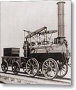 Model Of George Stephensons Successful Metal Print