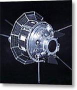 Model Of The Luna 3 Spacecraft Metal Print
