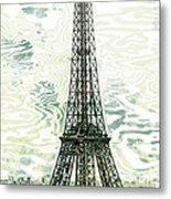 Modern-art Eiffel Tower 12 Metal Print