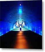 Modern Blue Tunnel Metal Print