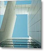 Modern Building Viewed From Below Metal Print