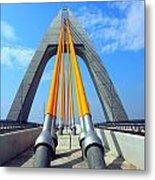 Modern Cable-stayed Bridge Metal Print